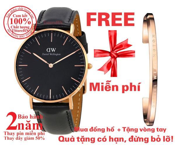 Đồng hồ nữ D.W Classic Black Sheffield 36mm - Màu vàng hồng (Rose Gold) DW00100139