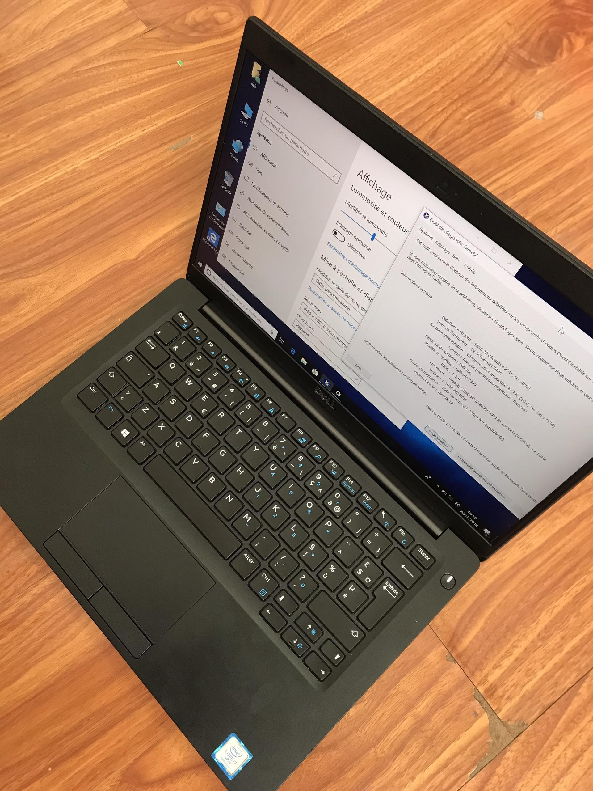 Lapto Dell Latitude 7390 i7 8650U, ram 16Gb, ssd 256Gb, Win 10, đẹp đến từng chi tiết