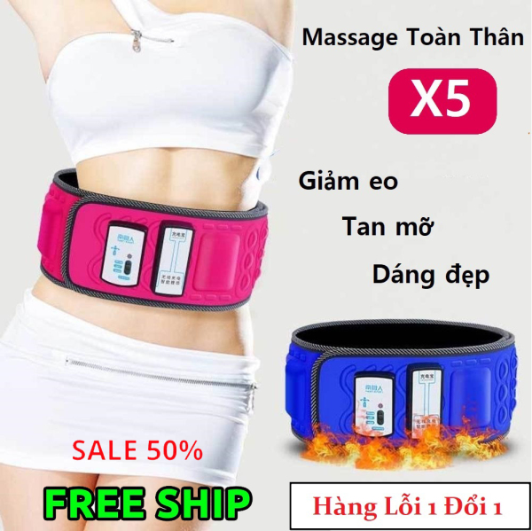 Đai massage rung giảm mỡ bụng đẹp, Máy Tan Mỡ, Masage đa năng cao cấp X5 Nhập Khẩu, Máy massage bụng, đai massage giảm mỡ bụng ,Đai giảm mỡ bụng - Bảo Hành Toàn Quốc