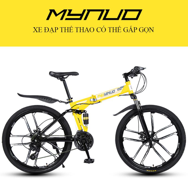 Mua Xe đạp thể thao Meiynuo gấp gọn, khung thép siêu bền, bảo hành 1 năm