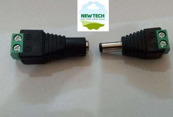 Set 2 jack cấm nguồn điện DC đực cái 5.5x2.1, sản phẩm tốt, chất lượng cao, cam kết như hình, độ bền vượt trội