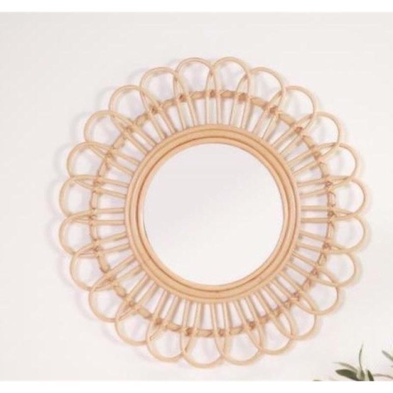Gương Mây Decor - Gương Mây Tre Treo Tường - Rattan Mirror