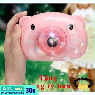 [HOT TREND] Máy ảnh thổi bong bóng hình heo siêu cute - máy thổi bong bóng - máy thổi bong bóng hình heo (TẶNG VÒNG TỲ HƯU) thumbnail