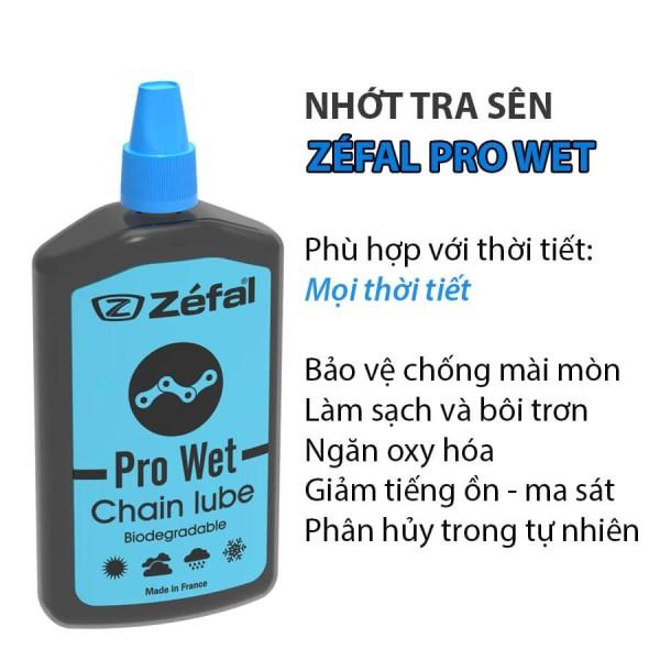 Nhớt sên xe đạp Zefal Pro Wet 120 ml
