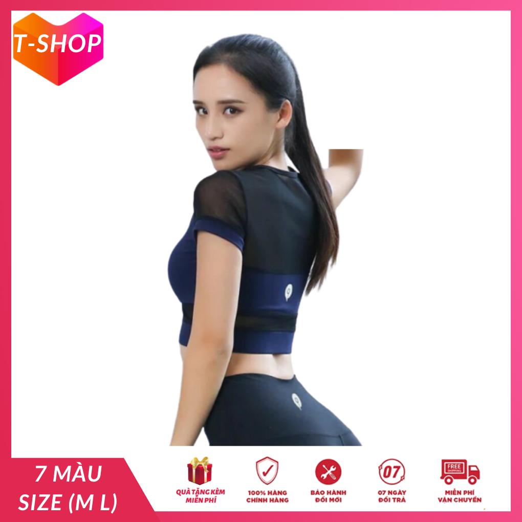 đồ tập gym nữ set bộ croptop phối lưới tay hàng xịn, quần áo tập gym yoga thể thao kết hợp màu sắc bắt mắt-CR108