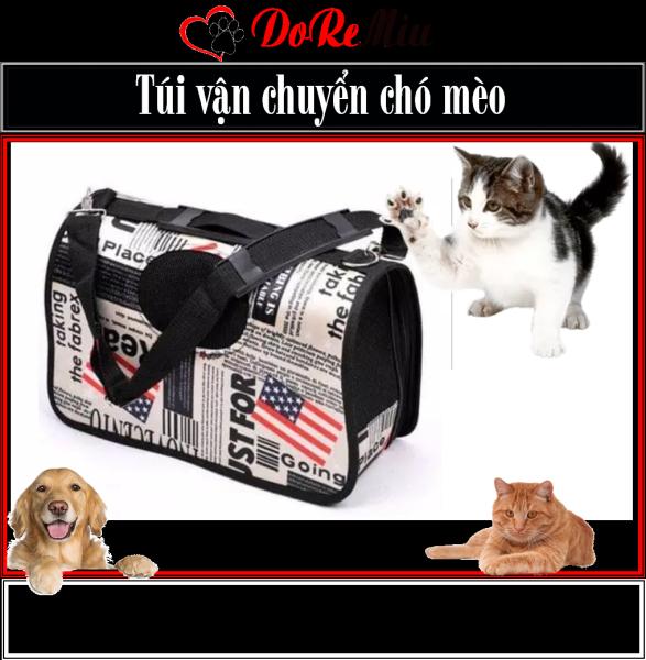 Doremiu- Túi vận chuyển chó mèo dạng túi cứng có quai chéo đeo vai (3 size) balo túi xách chó mèo