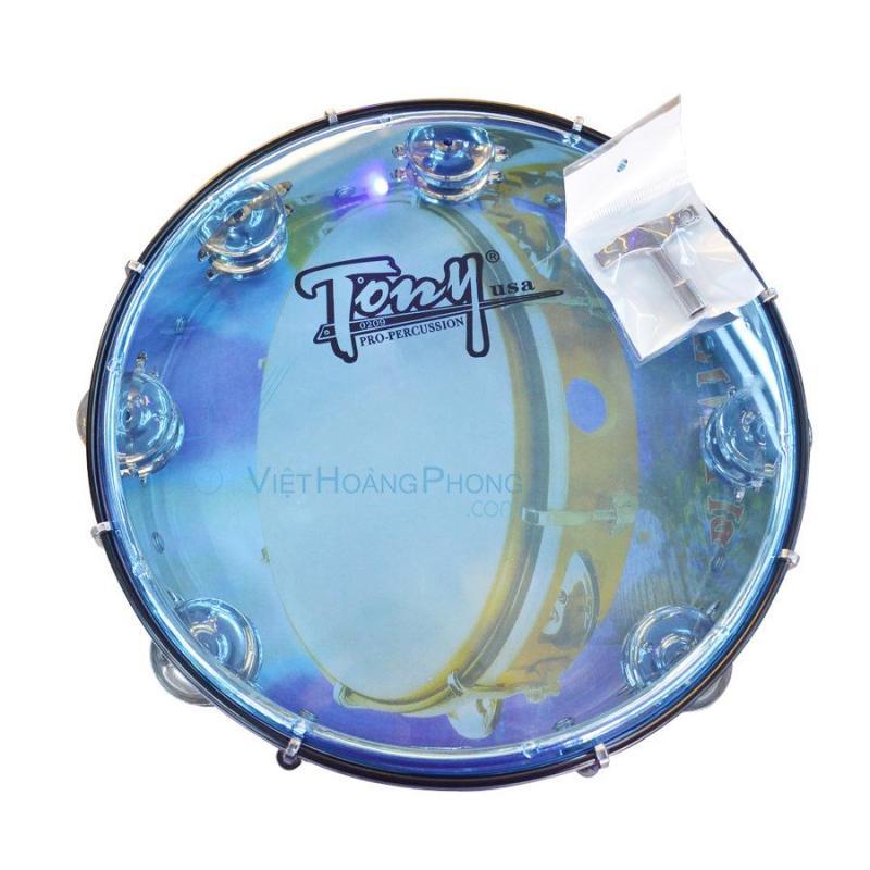 Trống lắc tay - trống gõ bo - Tambourine Cao Cấp TONY (USA) - HappyLive Shop