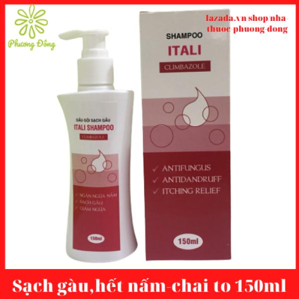 [CHAI TO - TIẾT KIỆM 20K]Sạch gàu, hết ngứa da đầu - Dầu gội sach gàu Nizoral thế hệ mới ITALI SHAMPOO  - Chai 150 ml nhập khẩu