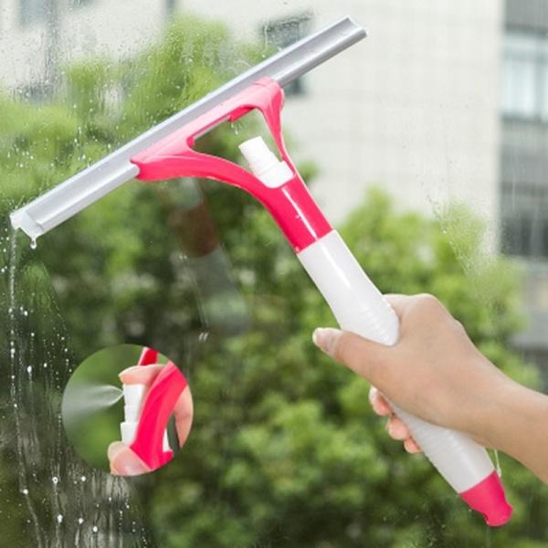 CÂY LAU KÍNH KÈM BÌNH XỊT, cây lau kiếng có chai xịt nước tẩy rửa, đồ chùi gương có bình chứa dung dịch vệ sinh, gạt nước sạch bề mặt phẳng, dụng cụ vệ sinh cửa sổ kính