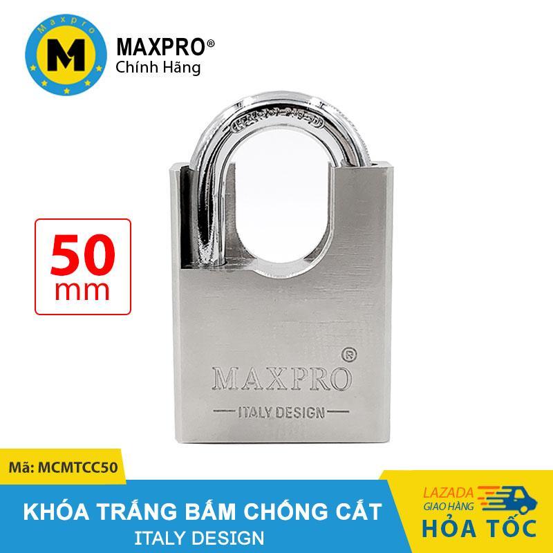 Giá Cực Tốt Để Sắm Ổ Khóa Bấm Chống Cắt Chìa Muỗng MAXPRO Trắng 50mm - MCMTCC50