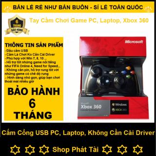 Tay Cầm Chơi Game Xbox 360 Có Rung, Tay Cầm Chơi Game Cắm Cổng USB Cho PC, Laptop Chơi Pes, FO4,,, thumbnail