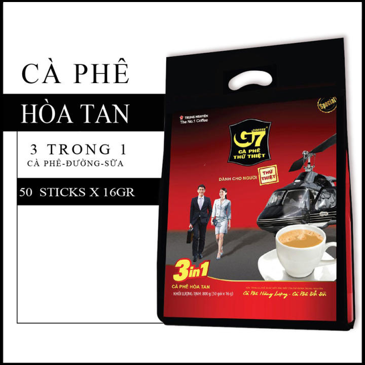 Cà phê hòa tan G7 3in1 – bịch 50 sticks 16gr.