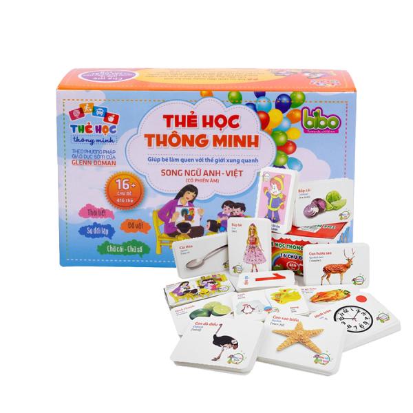 Mua Bộ thẻ học song ngữ cho bé BIBO từ 0-6 tuổi (416 tờ 16 chủ đề)