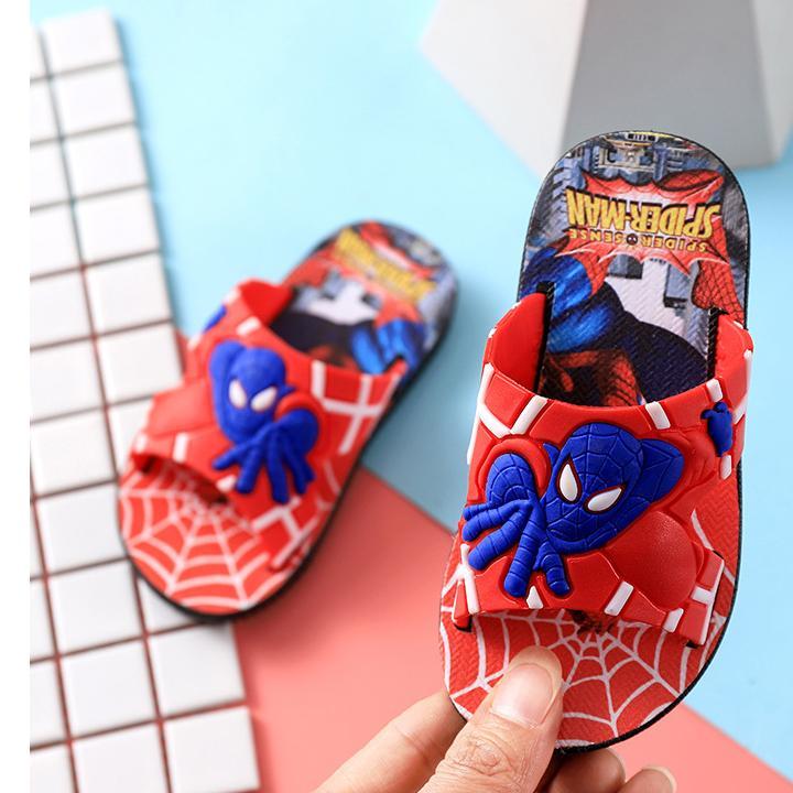 Dép cho bé, Dép người nhện cho bé trai siêu đẹp (dép màu đỏ) -D108 Nhật Bản