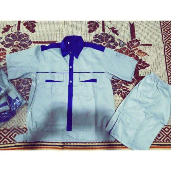 Quần áo bảo hộ phối màu cộc tay