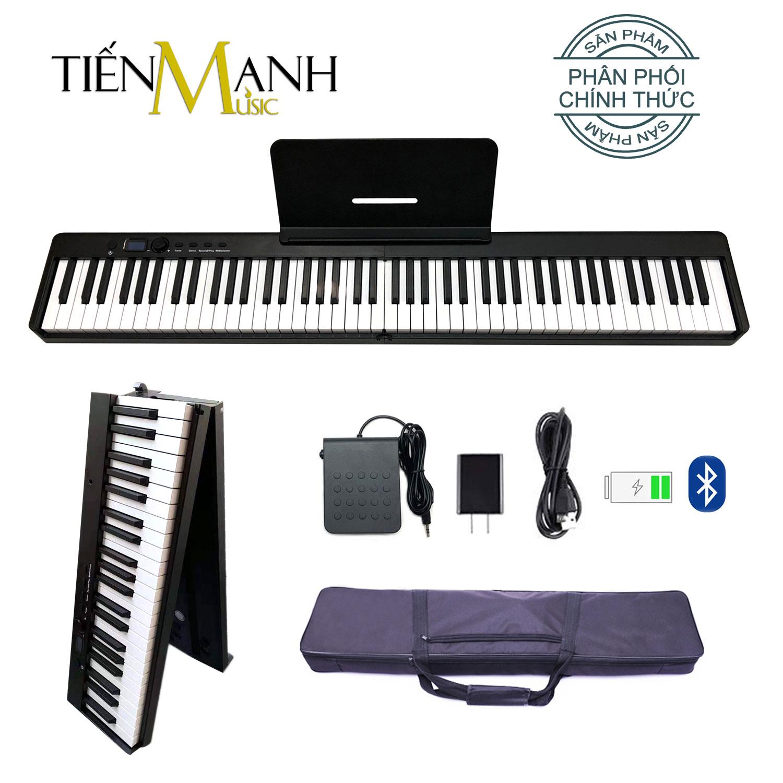 [Gấp Gọn] Đàn Piano Điện Bora BX-20 - 88 Phím Cảm Ứng Lực BX20 (Kèm Giá để bản nhạc, Pin sạc, Bluetooth, Pedal Sustain BR-02, Bao đựng)
