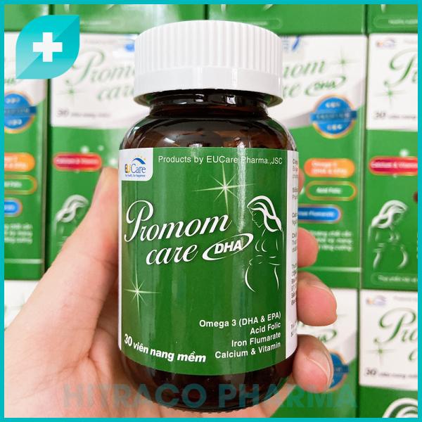 Vitamin tổng hợp cho Bà bầu Promom Care Hộp 30 viên - Bổ sung Omega 3, DHA, EPA, Sắt, Canxi và Vitamin nhập khẩu