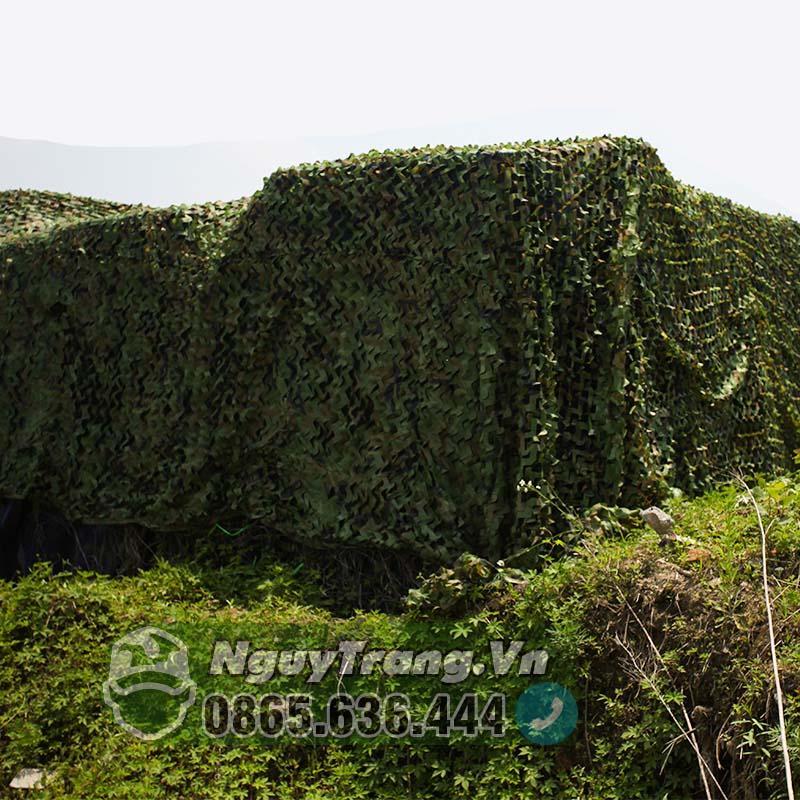 Lưới Nguy Trang Quân đội che nắng size 2x3 có may viền cao cấp