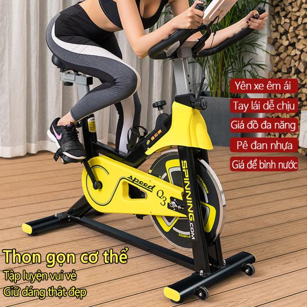 Bảng giá Xe đạp tập gym tại nhà màu vàng phối đen khỏe khoắn dụng cụ thập gym máy tập gym tại nhà TopOne2020