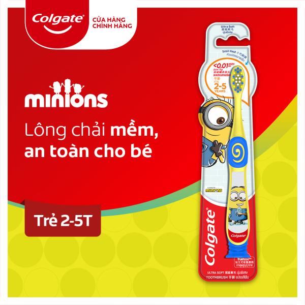 Bàn chải đánh răng Colgate cho trẻ từ 2-5 tuổi hình ảnh Minion vui nhộn