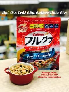 Ngũ cốc trái cây Calbee 482gr Nhật Bản, có thể sử dụng trực tiếp như snack ăn liền (thiết kế túi zip nên có thể bảo quản sản phẩm được trong thời gian lên đến 30 ngày) thumbnail