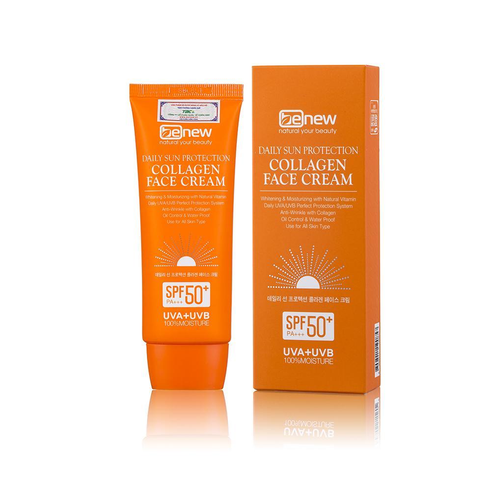 Kem chống nắng cao cấp dành cho da mặt - Benew Collagen Sun Cream 70ml tốt nhất