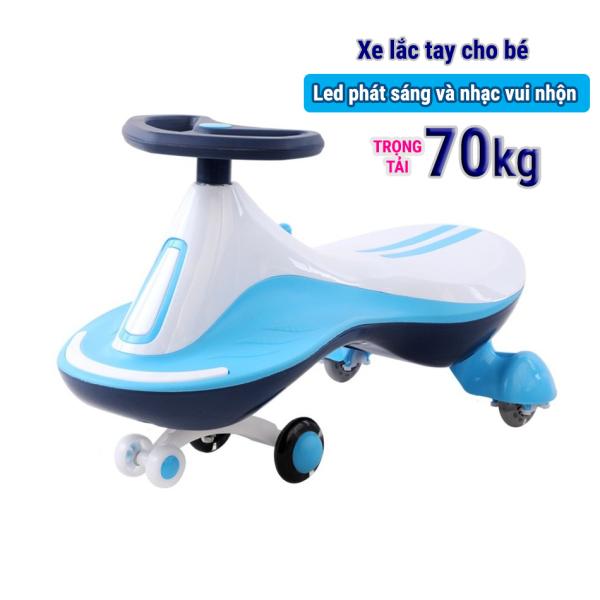 Xe lắc tay vận động cho bé có đèn Led phát sáng và nhạc vui nhộn DLT-8002 (Dành cho bé 1-12 tuổi)