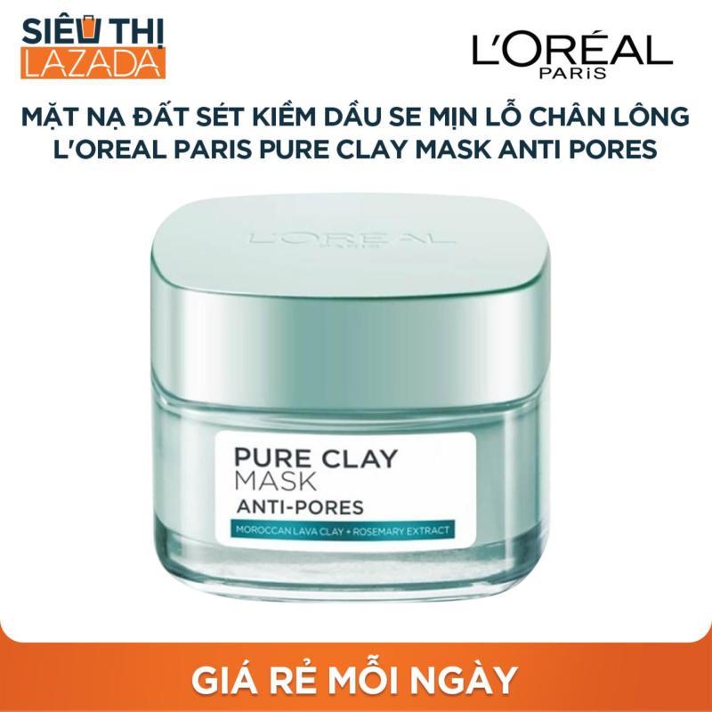 [Siêu thị Lazada] - Mặt nạ đất sét kiềm dầu se mịn lỗ chân lông LOreal Paris Pure Clay mask Anti pores