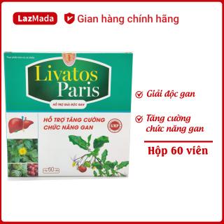 Viên uống Livatos Paris - Giúp giải độc gan, hạ men gan, giảm gan nhiễm mỡ, tăng cường chức năng gan hiệu quả từ thảo dược - Hộp 60 viên đạt chuẩn GMP thumbnail