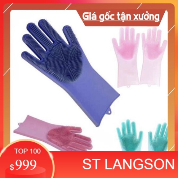 (SLS) Combo 10 đôi găng tay rửa bát