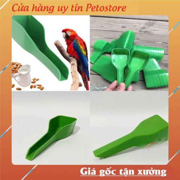 Thìa xúc cám chim, gà, bồ câu tiện lợi Phụ kiện lồng chim Petostore PK10