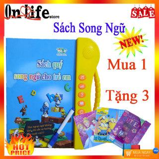 Sách Nói Điện Tử Song Ngữ Anh Việt cho Trẻ Em - Học Tiếng Anh - Toán - Tiếng Việt - Sách Thông Minh - Đồ Chơi Phát Triển Trí Thông Minh thumbnail
