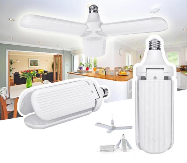 Bóng đèn led hình 3 cánh quạt siêu sáng 30w - Sử dụng chip led nên đèn phát nhiệt cực thấp, độ sáng cao ánh sáng cực tốt.