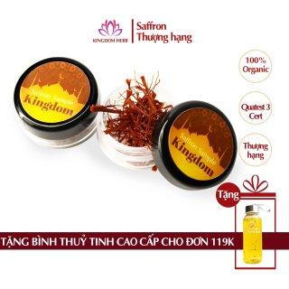 Saffron Kingdom nhụy hoa nghệ tây Iran chính hãng loại super negin thượng hạng (hộp mẫu thử 0.2 gram) thumbnail
