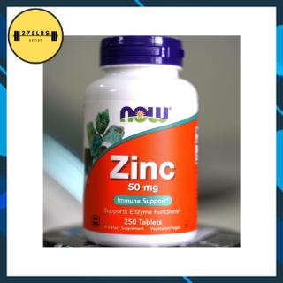 [CHÍNH HÃNG] Viên bổ sung Kẽm giảm mụn, mờ vết thâm NOW ZINC Gluconate 50mg 250 Viên thumbnail