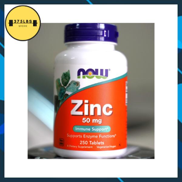 [CHÍNH HÃNG] Viên bổ sung Kẽm giảm mụn, mờ vết thâm NOW ZINC Gluconate 50mg 250 Viên