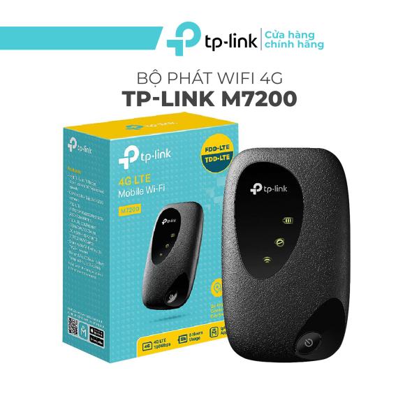 Bảng giá Bộ Phát Wifi Di Động 4G LTE TP-Link M7200, wifi không dây 4g 2.4GHz, bộ phát wifi di động 150Mbps - Hàng Chính Hãng Phong Vũ