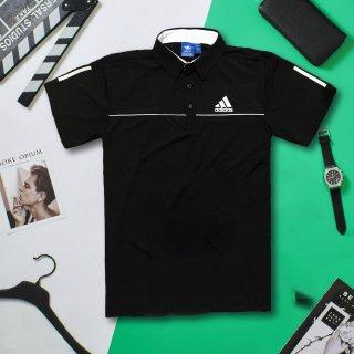 Áo thun nam, áo thể thao nam có cổ chất cotton, cổ trụ co giãn 4 chiều thumbnail