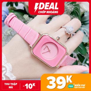 Đồng hồ Nữ GUOU Dây Mềm Mại đeo rất êm tay - Kiểu Dáng Apple Watch 40mm - Chô ng Nươ c - Đồng Hồ Nữ Thời Trang - Hàn Quốc Dây Da Mặt Vuông - Sam s Shop thumbnail