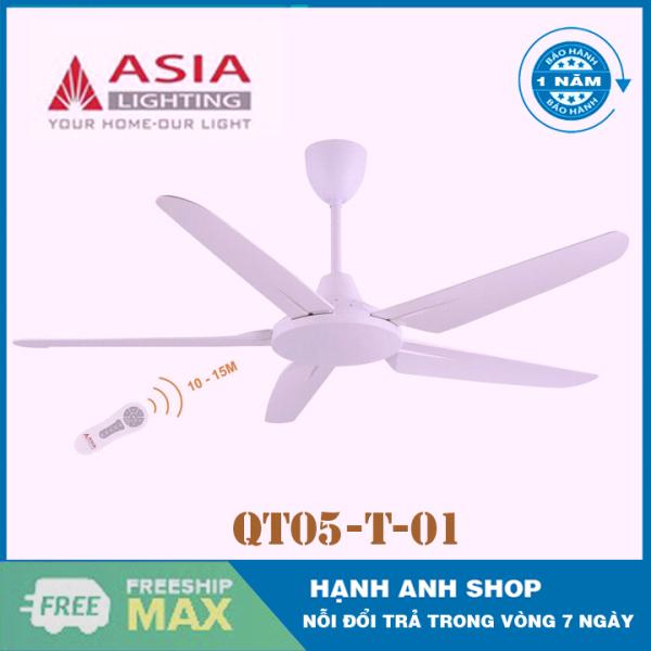 [ Hàng Chính Hãng ] Quạt trần 5 cánh ASIA - Model: QT05- (Bảo Hành 12 Tháng)