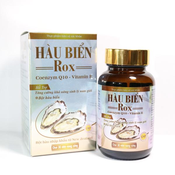 Tinh Chất Hàu Biển ROX tăng cường sinh lý nam giới, bổ thận, tráng dương - Hộp 30 viên thành phần Hàu biển, Kẽm, Arginin, Coenzym Q10, Vitamin E