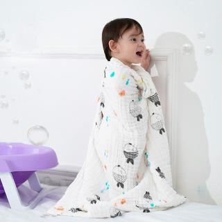 Muslin Khăn Tắm Em Bé 6 Lớp Vải Bông 100% Chăn Quấn Hoạt Hình Cho Trẻ Sơ Sinh Chăn Mềm Cho Trẻ Em Sleepsack Xe Đẩy thumbnail