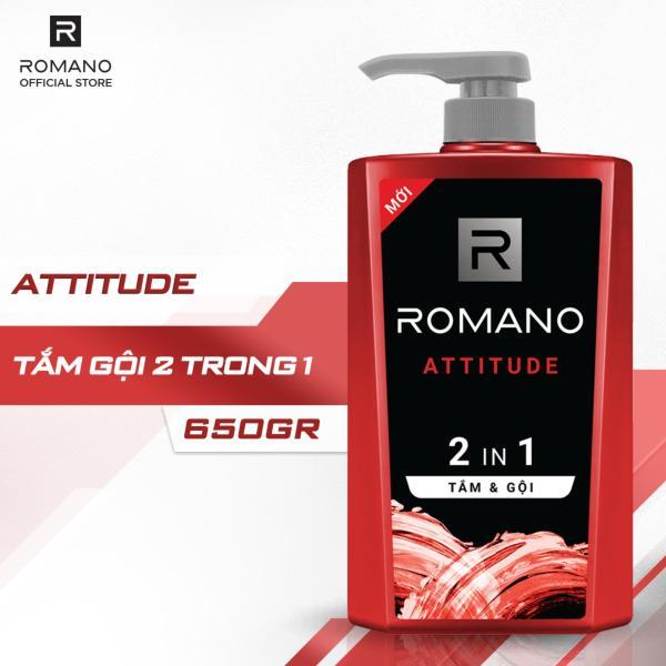 Tắm gội 2 trong 1 Romano Attitude 650g cao cấp