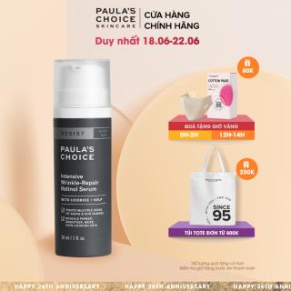 Tinh chất chống lão hóa và làm mờ nếp nhăn li ti Retinol Paula's Choice Resist Intensive Wrinkle - Repair Retinol Serum