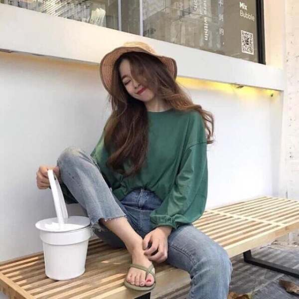 Áo thun nữ tay dài freesize thiết kế trẻ trung năng động