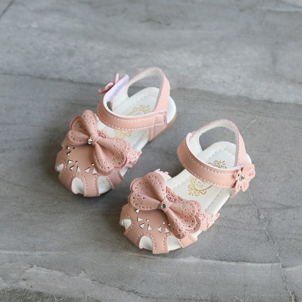 Giá bán Sandal Tập Đi Bé Gái Hoa Nhí Size 15-19 Mã  189