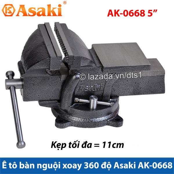 Ê tô bàn nguội xoay 360° Asaki AK-0668 5 - Khả năng kẹp 10cm AK-668, Chuyên dùng để kẹp, cố định các chi tiết bạn cần gia công. Được đúc nguyên khối từ hợp kim thép Có tay quay chắc chắn để kẹp và giữ chắc chi tiết.