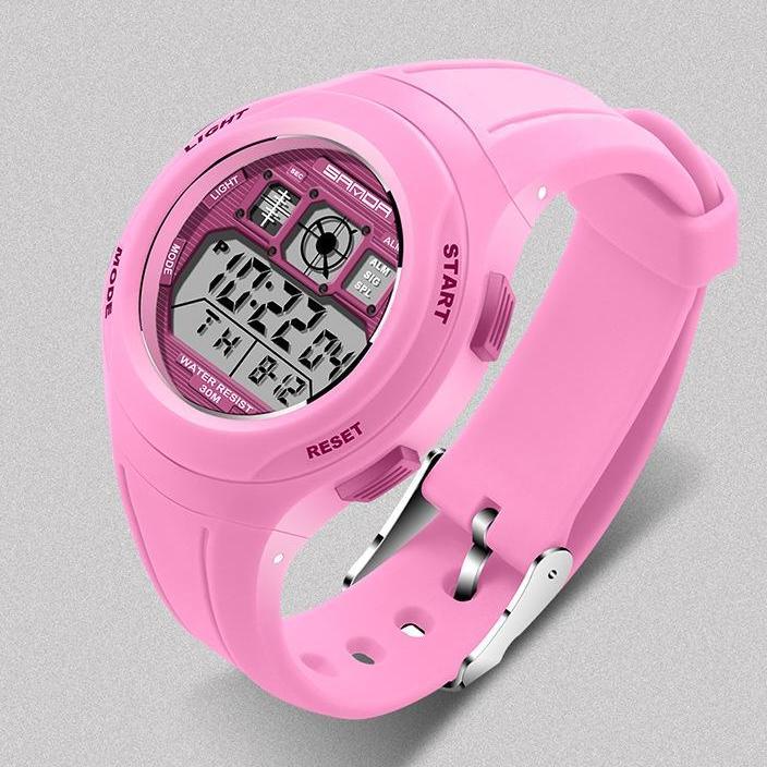 Nơi bán Đồng hồ điện tử thể thao thời trang trẻ em dây cao su Sanda PKHRSA005 (44 mm)