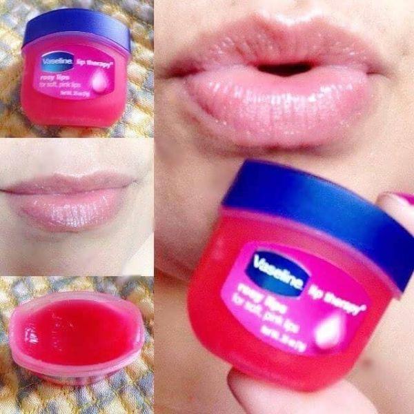 Sáp Son Dưỡng Môi Vaseline Mùi Hoa Hồng Lip Therapy Rosy Lips 7g dưỡng môi hồng min màng chống khô môi giá rẻ