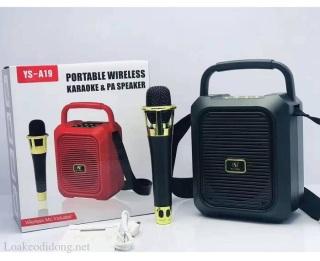 [HCM][Được thử hàng] Loa bluetooth YS-A18 19 + kèm 1 micro không dây thumbnail